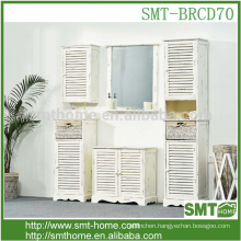 American style luxury eco-friendly paint solid wood bathroom cabinet furniture