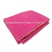 Micro Fleece Travel Blanket with Overlock