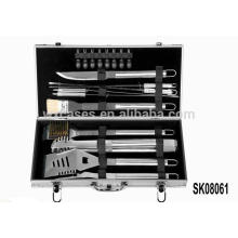 Caja de herramienta de aluminio fuerte para herramientas de barbacoa conjunto ventas calientes