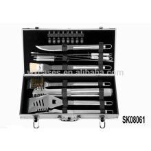 Mallette aluminium solide pour les outils de barbecue valeur ventes chaudes