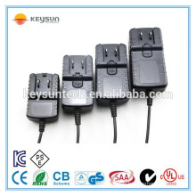 Hot selling us eu uk au travel plug adapter 12v 500ma power supply changeable 12v0.5a ac dc adaptor with UL CE ROHS SAA