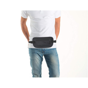 Bolsos de cintura de nylon negro Fanny Packs Money Belts