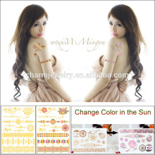 Flash Metal Colour Changing Tattoo Sticker with Waterproof for Adults BS-8026