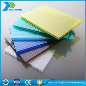 Preço barato folha de chapa translúcida de policarbonato transparente de alta qualidade de plástico