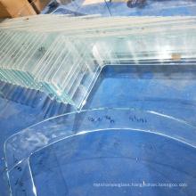 Custom shape good quality  3mm-19mm Hot Bent Curved Glass Price