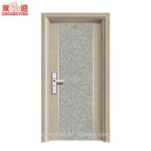 Porte en acier d'entrée de bâtiment et d'appartement Porte anti-vol de porte personnalisable