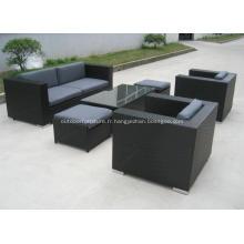 Plastique en osier jardin loisirs moderne canapé meubles