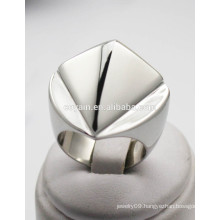 Big silver chunky special design ring for women men personalized finger ring design
