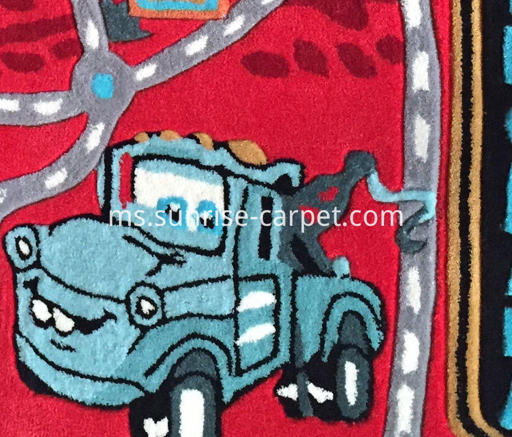 Acrylic Hand Tufted Carpet with Disney Cars Design