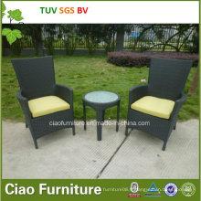 Table et chaise de rotin extérieur moderne de meubles de jardin d'osier de loisirs