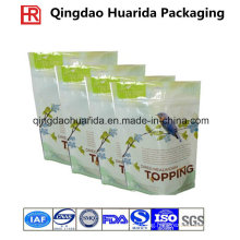 Custom Cat Food Zipper Plastic Bag / Pet Food Packaging Pouch