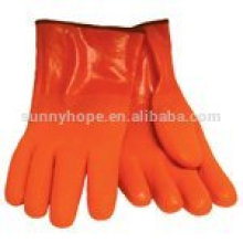 black pvc dipped work gloves