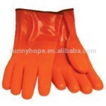 Черные перфорированные перчаточные перчатки
