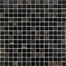 Gold line luxury Agate black glass mosaic tiles