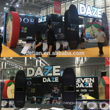 Detian offer rent trade show exhibition booth vape display