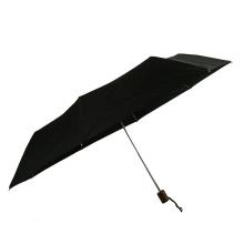 Light weight portable aluminum shaft windproof structure 3folding travel umbrella with logo print