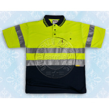 Men′s Safety Polo Shirt with Reflective Tape