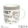 12oz Ceramic Mug with English Words