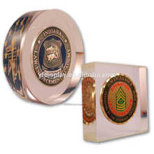 Acrylic Embedment with Souvenir Medal or Photo in Seamless Hot-pressing Skill