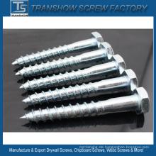 8 * 60mm verzinkte Stahl DIN571 Holzschraube