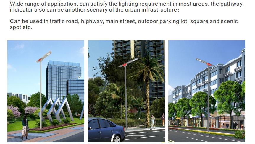 solar led street light application