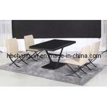 Venta caliente de alta calidad nuevo diseño lujo vidrio comedor mesa moderna
