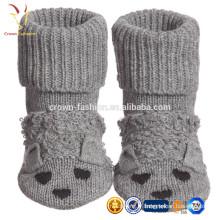 Enfants Bébé Coton Gris Cachemire Flopsey Bootees