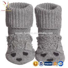 Kids Baby Grey Cotton Cashmere Flopsey Bootees