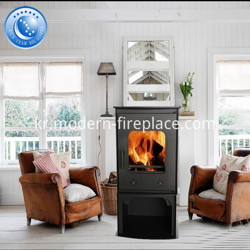 CE Modern Steel Plate Wood Burning Stove