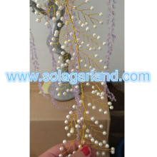 Round Imitation Rearl Bead Garland Tree Branch