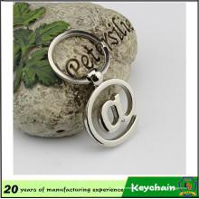 @ em forma de metal de aço inoxidável chaveiro