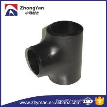 seamless carbon steel black schedule 40 steel pipe fittings tee