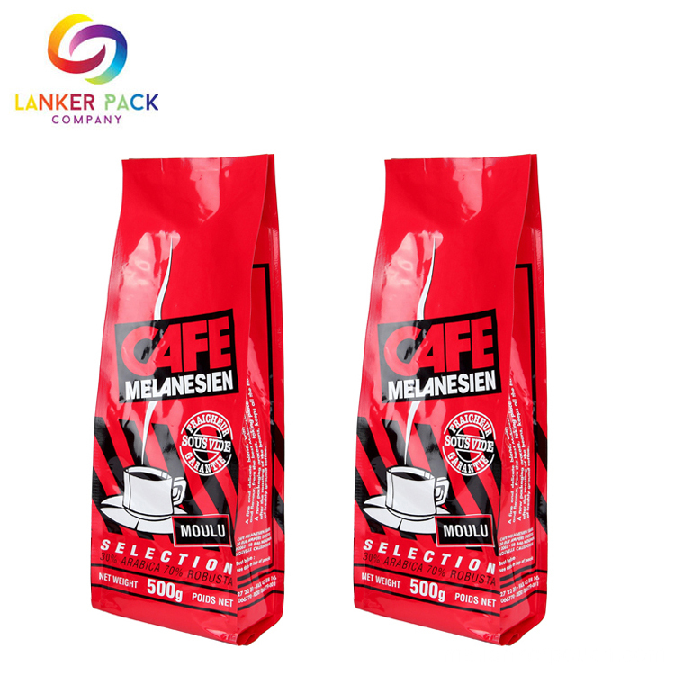 Beg Resealable Custom Quad Seal Coffee Packaging Bag