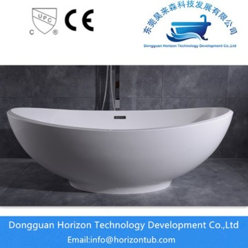 Poly marble solid surface bathtub