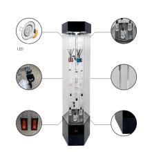 Vitrina giratoria al por mayor promocional modificada para requisitos particulares