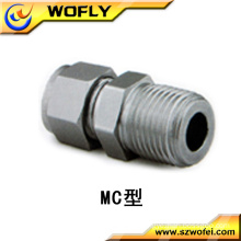 SS 316L male turns female connector union tube fitting