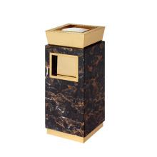 Marmor und Edelstahl Mülleimer für Lobby (YW0052)