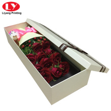 Luxury rectangle carton flower box packaging