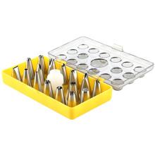 Boquillas de decoración de pasteles de 16 piezas con caja de plástico