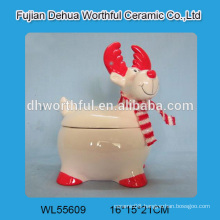 Personalized ceramic christmas containers in reindeer shape