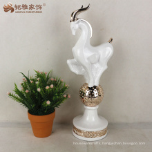 Resin antelope statue home decoration