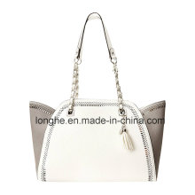 New Winter Perforated and Chain Detail Tote Bag (ZXS0105)