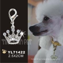 Corona forma diamante etiqueta de la mascota etiqueta, etiqueta de perro (yl71422)