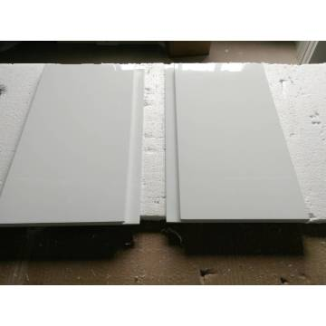 White Laminated Lacquer Kitchen Cabinet Doors with Handless (zhuv)