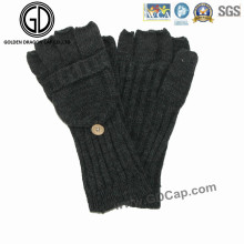 100% acrílico Fingerless tejido guante caliente