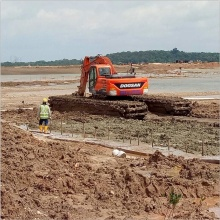 High Efficiency 110W-120W Amphibious Excavator
