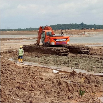 High Efficiency 110W-120W Amphibious Excavator