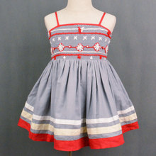 Kinder Smocked & Embroidered Girl Dress High Quality