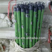 Cubierta de pvc mango de escoba de madera 2.5 * 120cm