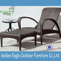 Outdoor PE rattan beach chair